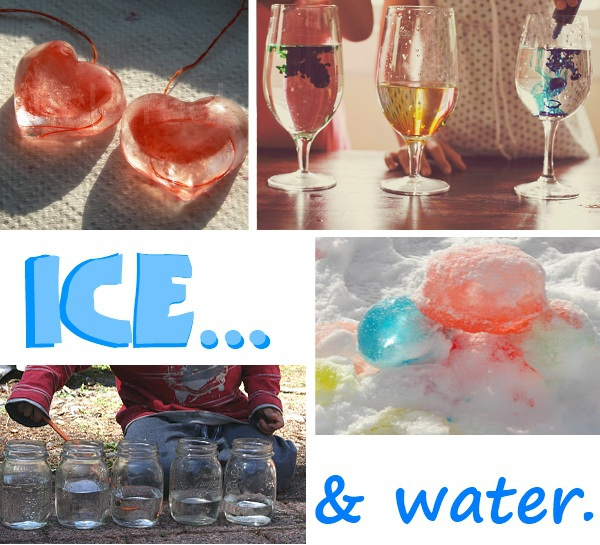 Winter preschool theme ice and water