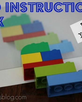 Kids can make their own lego instruction book for a fun Do It Yourself project!