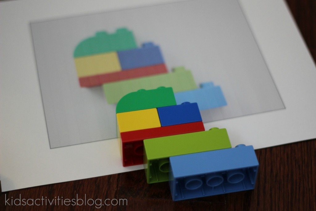 Lego building instructions printed out on a printer - Step 3 to create your own LEGO building instructions from the Kids Activities Blog