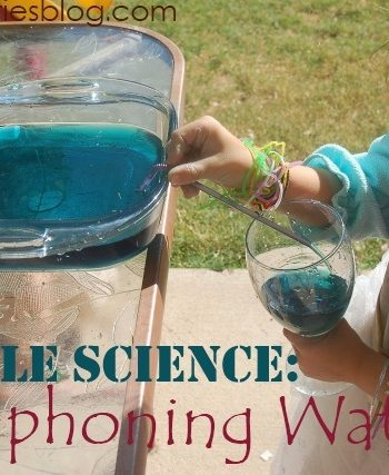 siphoning experiment with water