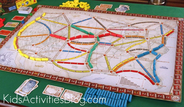ticket to ride board game board