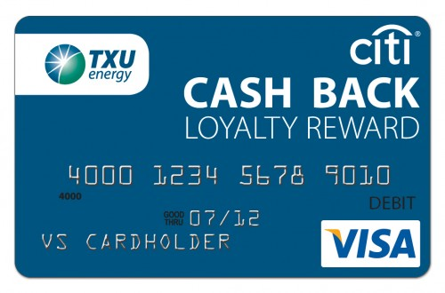TXU cash back rewards program