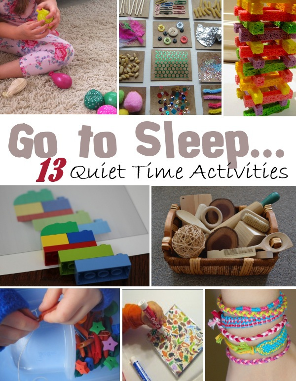 Go to sleep kids activities