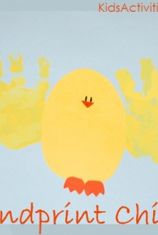 Easter Chick Hand Prints