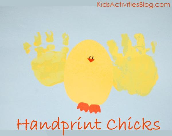 Hand print chicks