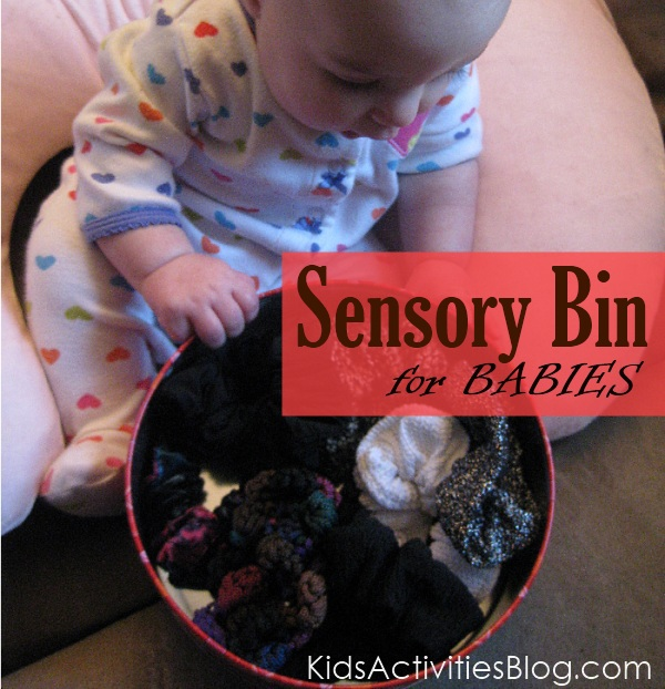 sensory bin baby idea