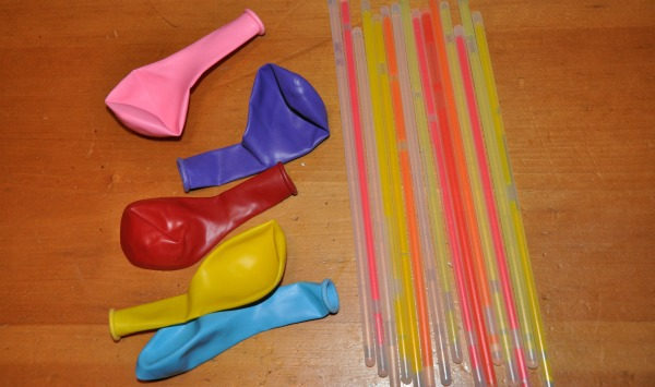 balloons and glow sticks - supplies needed to make glow stick glow in the dark balloons
