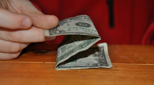 folded dollar bill