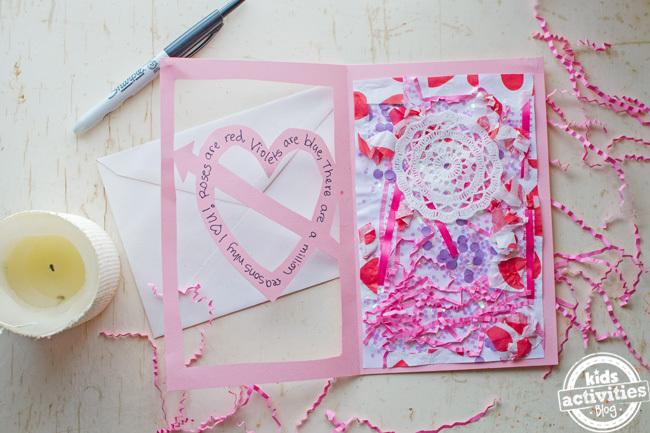 carte faite maison de la Saint-Valentin