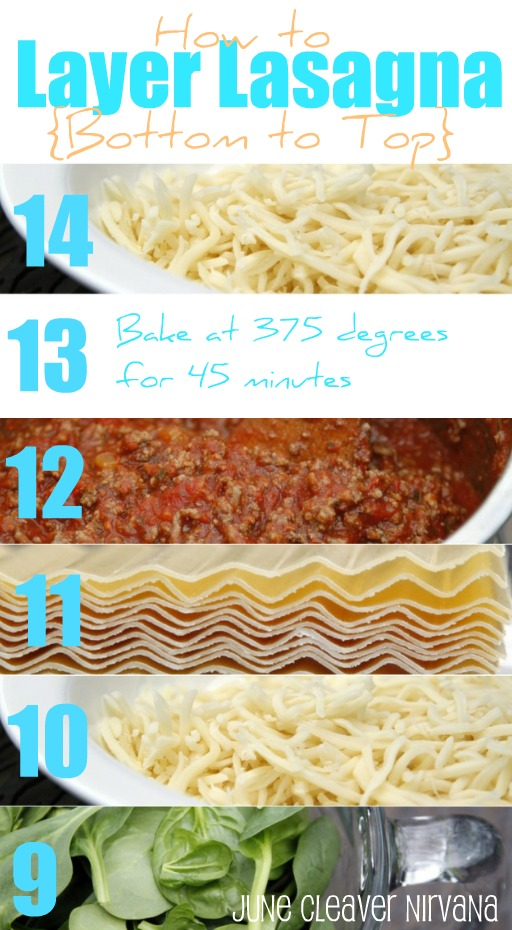 How to Layer Lasagna top