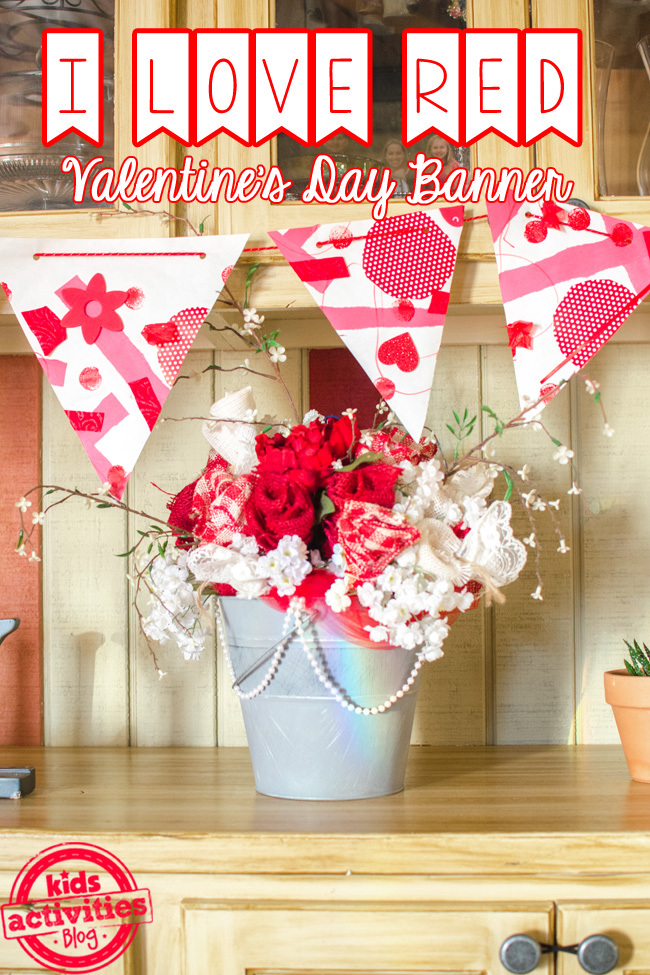 i love red valentines day banner