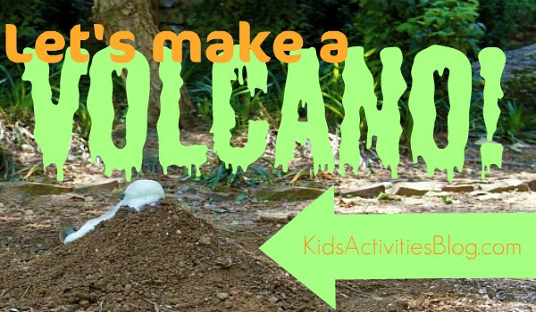 lets make a volcano for kids