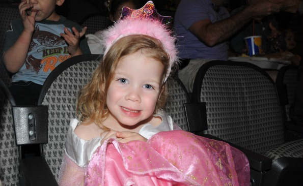little girl in princess costume