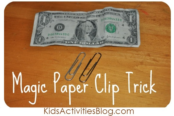 Magic Trick Secret: How to get Paper Clips to Attach