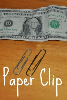 magic paper clip trick