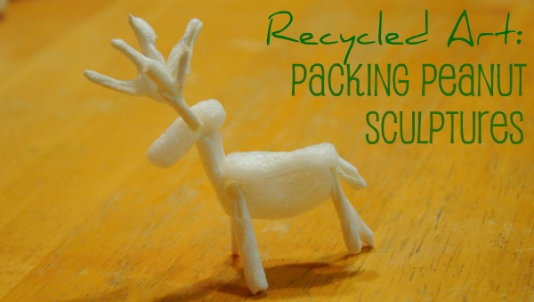 packing peanut sculptures