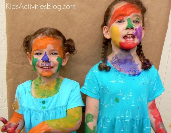 paintman two girls very messy