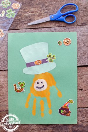 Handprint Leprechaun Craft for St. Patrick's Day