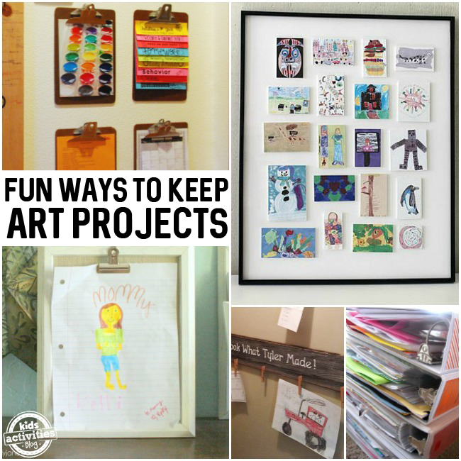 Fun Ways to Keep Art Projects