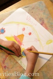 Kids Art: DIY placemats