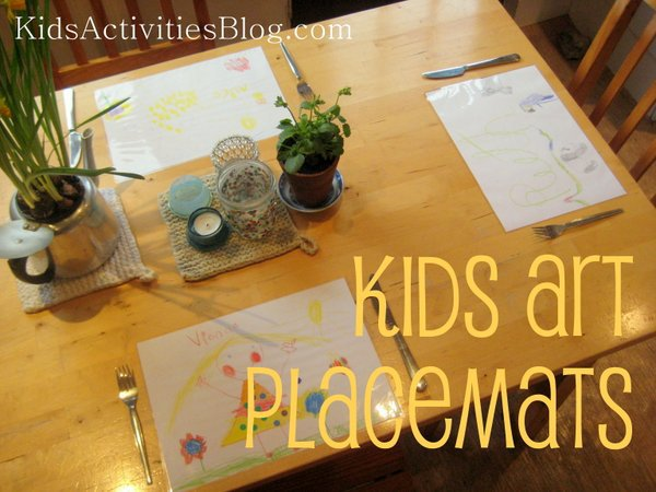 Kids ArtDIY placemats