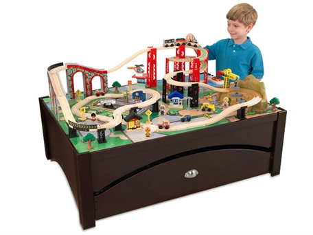 Woot ~ KidKraft Metro Train Table & 87-Piece Train Set $129.99!