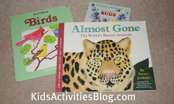 animal bird and bug books
