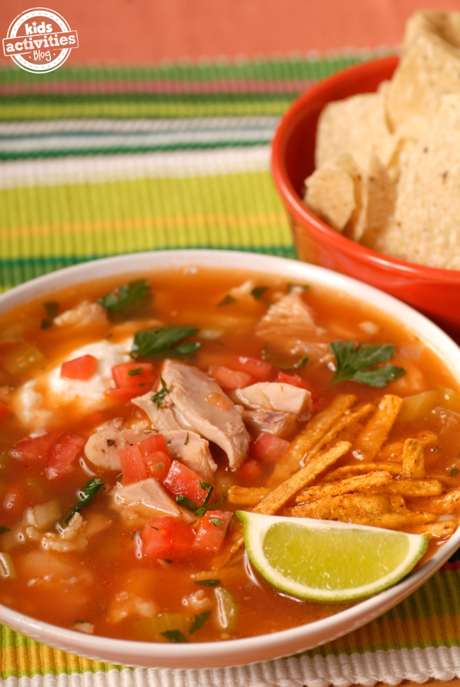 easy chicken tortilla soup ingredients 4 chicken breast thawed is best ...