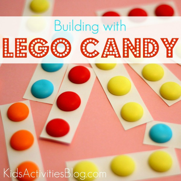 building with lego candy