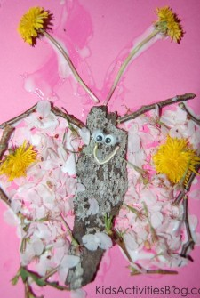 Earth Day Craft: Butterfly Collage