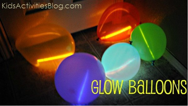 Things that Glow: Balloons with Glow Sticks - Kids Activities Blog