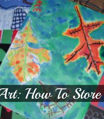 kids art how to store it all