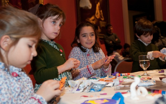 kids doing crafts