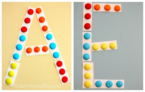 letter candy collage