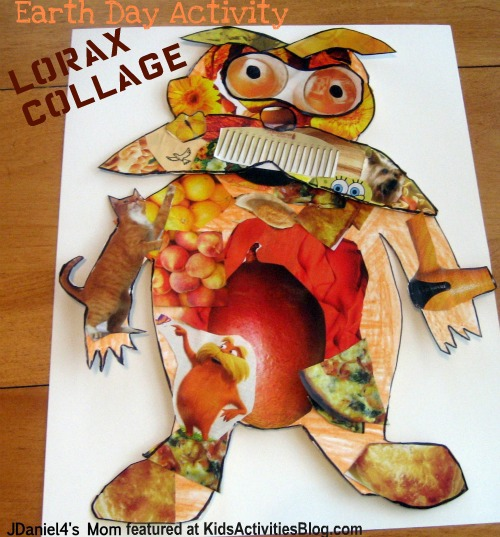 lorax collage to help promote a clean environment by upcycling magazines