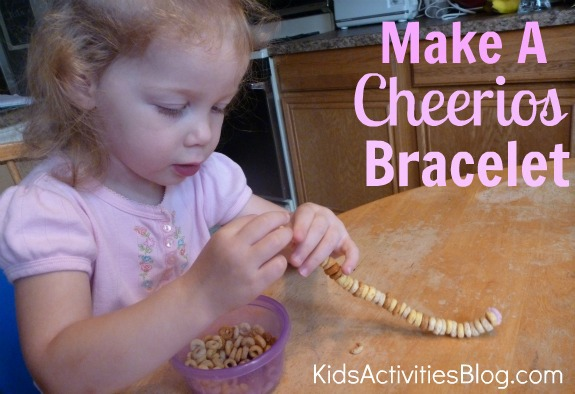make a cheerios bracelet