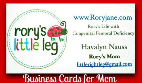 mommy business card