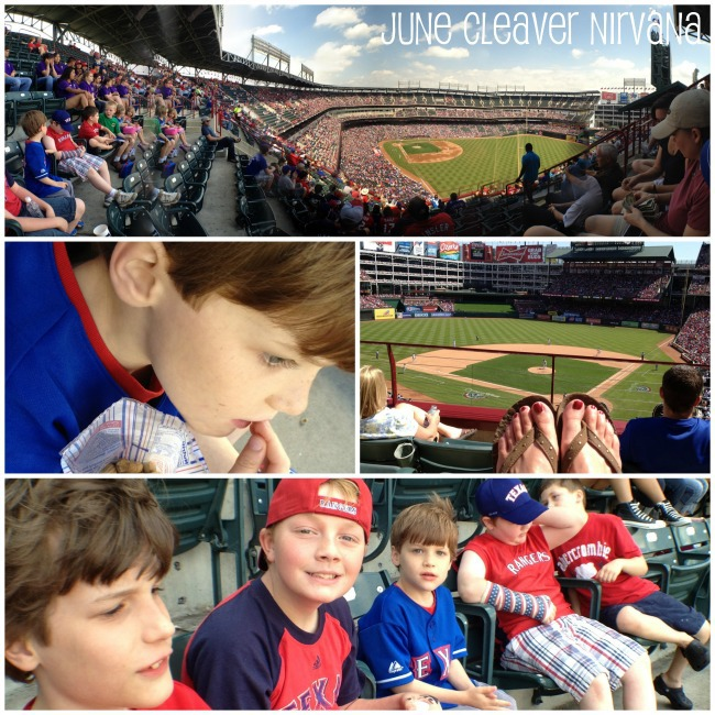 PicFrame collage from iPhone at ballpark