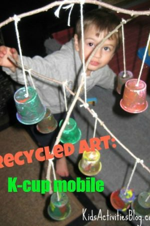 recycled art k-cup mobile