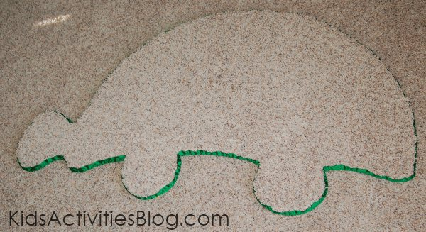 finished animal area rug made from Lowes carpet remnants