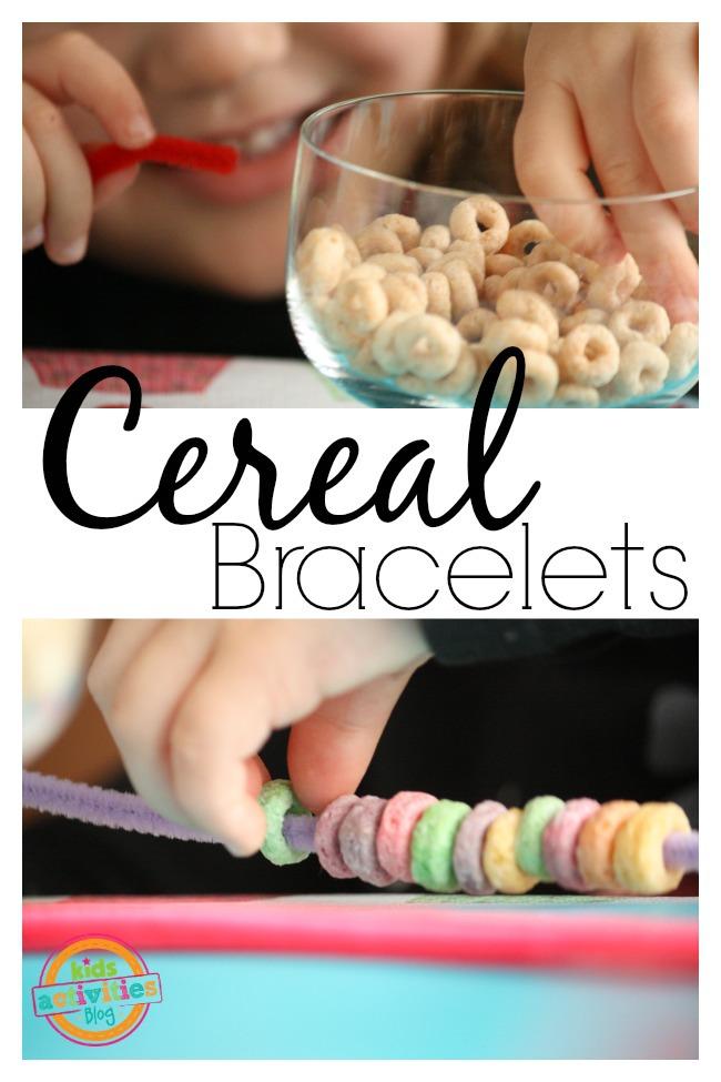 Cheerio and Fruit Loop Bracelets