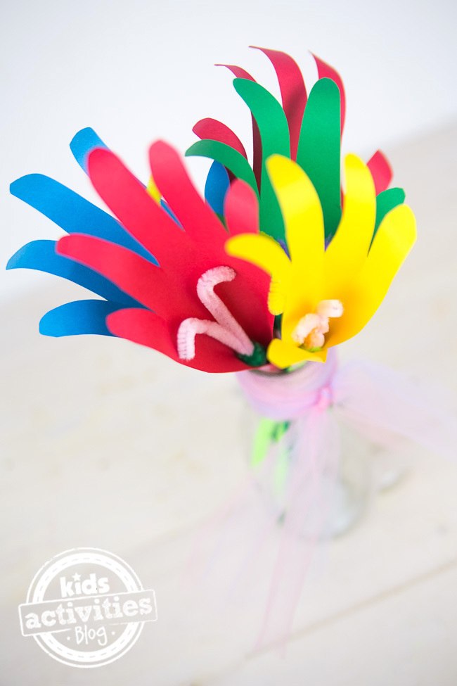 Mothers Day Craft A Handmade Bouquet Kids Activities Blog