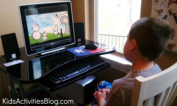 boy at computer