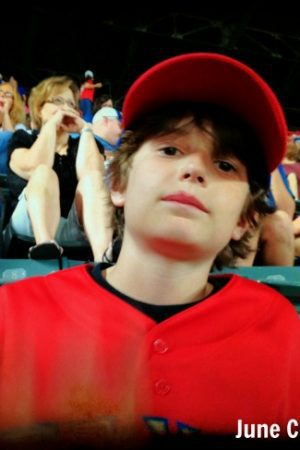 boy at the Ballpark in Arlington