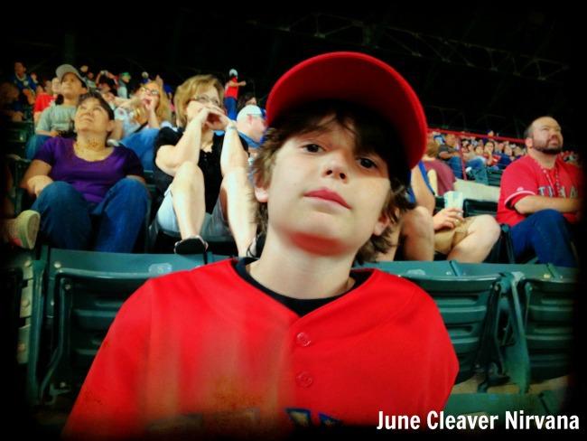 boy at the Ballpark in Arlington