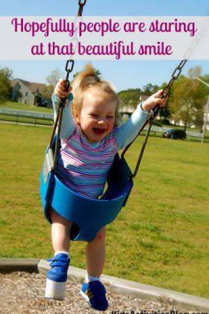 cute girl swinging