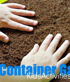 kids container garden