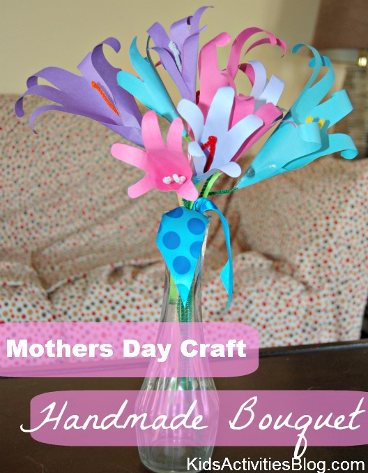 mothers day craft handmade bouquet