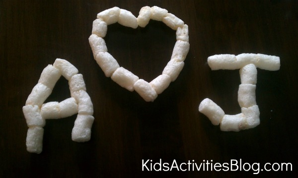 packing peanut letters