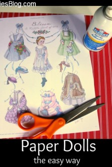 Paper Crafts for Kids: Paper Dolls with Spray Adhesive